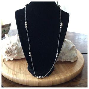 "Vintage Sterling Silver Balls Necklace 23"".Nice"